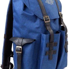 Bioworld Fallout 76: Gold Foil Logo Printed Solid Blue Melange Backpack