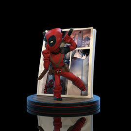 Quantum Mechanix Marvel: Deadpool 4D Q-Fig Diorama