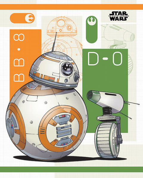 Hole In The Wall Star Wars: The Rise of Skywalker BB8 and D-O Mini Poster