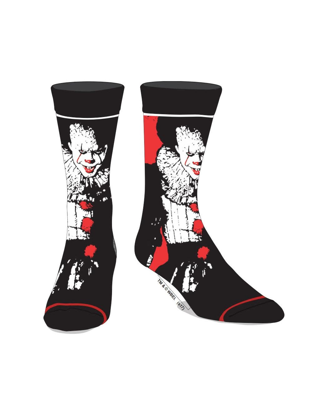 Bioworld Pennywise IT Scare Your Socks Off Mens Crew Socks