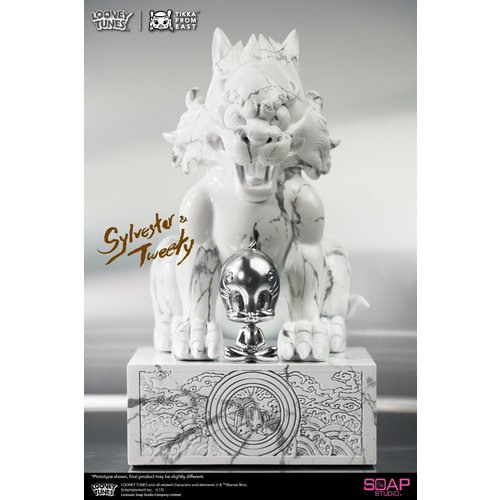 soap studios Pre order: Looney Tunes: Sylvester and Tweety White Marble Statue