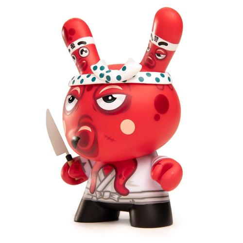 Kidrobot Dunny: Red 5 inch Tako's Revenge Dunny by Fakir