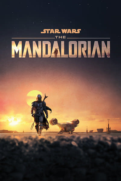 Hole In The Wall Star Wars The Mandalorian Dusk Maxi Poster