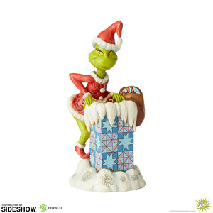 enesco The Grinch: Grinch Climbing in the Chimney