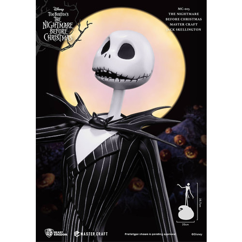 Beast Kingdom Nightmare before Christmas NBX  Jack Skellington Master Craft Statue