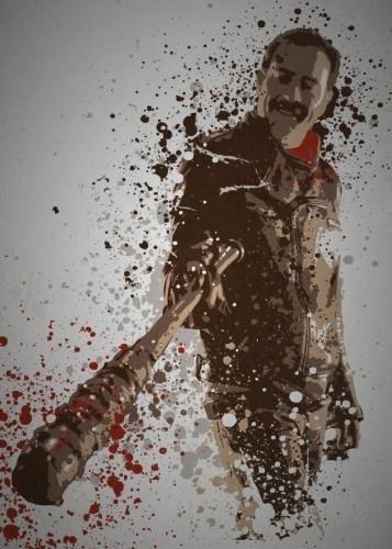 Giveaway The Walking Dead  Negan Splash.