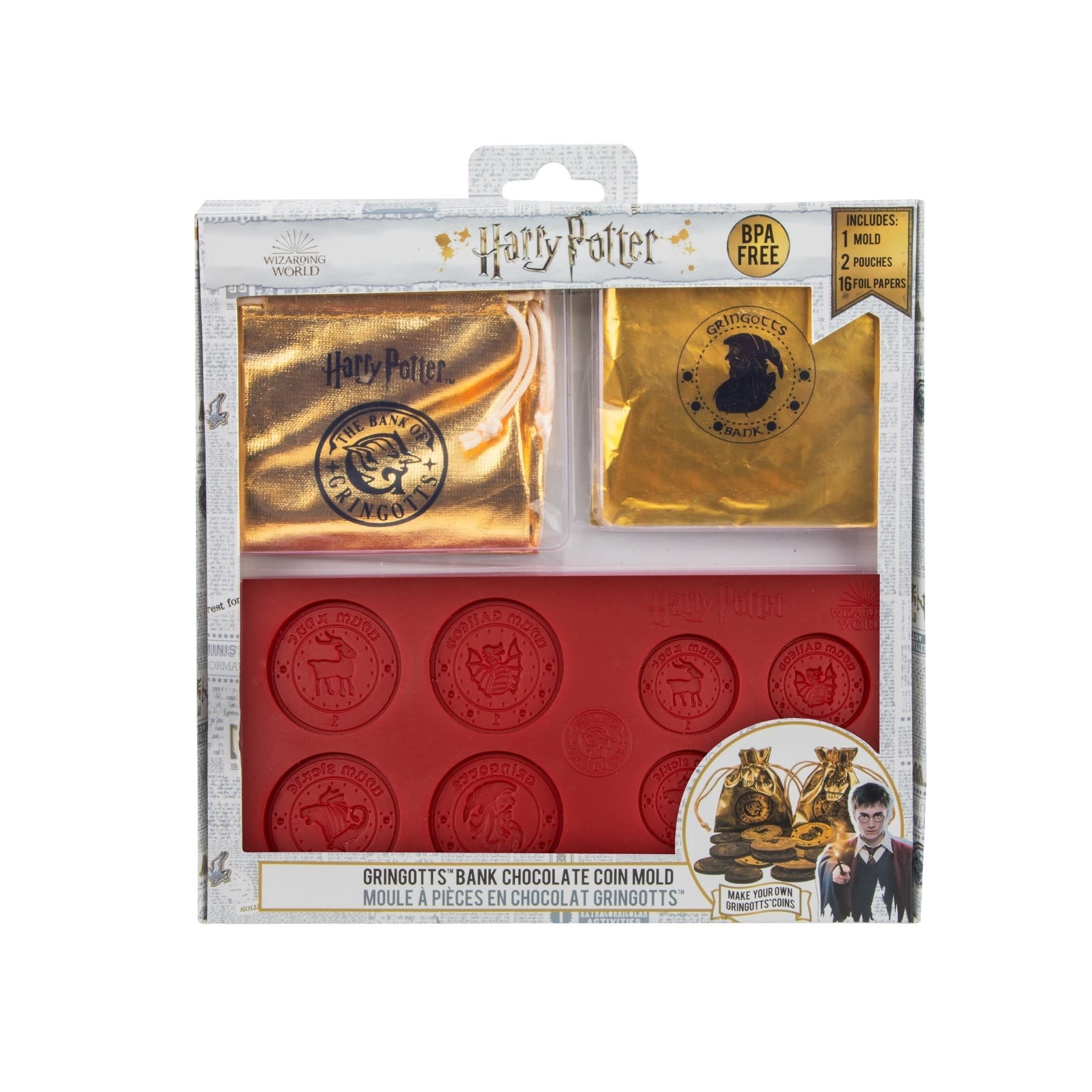 fame bros Harry Potter: Gringotts Bank Chocolate Coin Mold