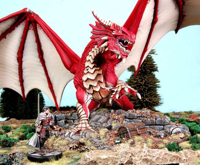 GF9 BATTLEFRONT D&D Classic red dragon miniature