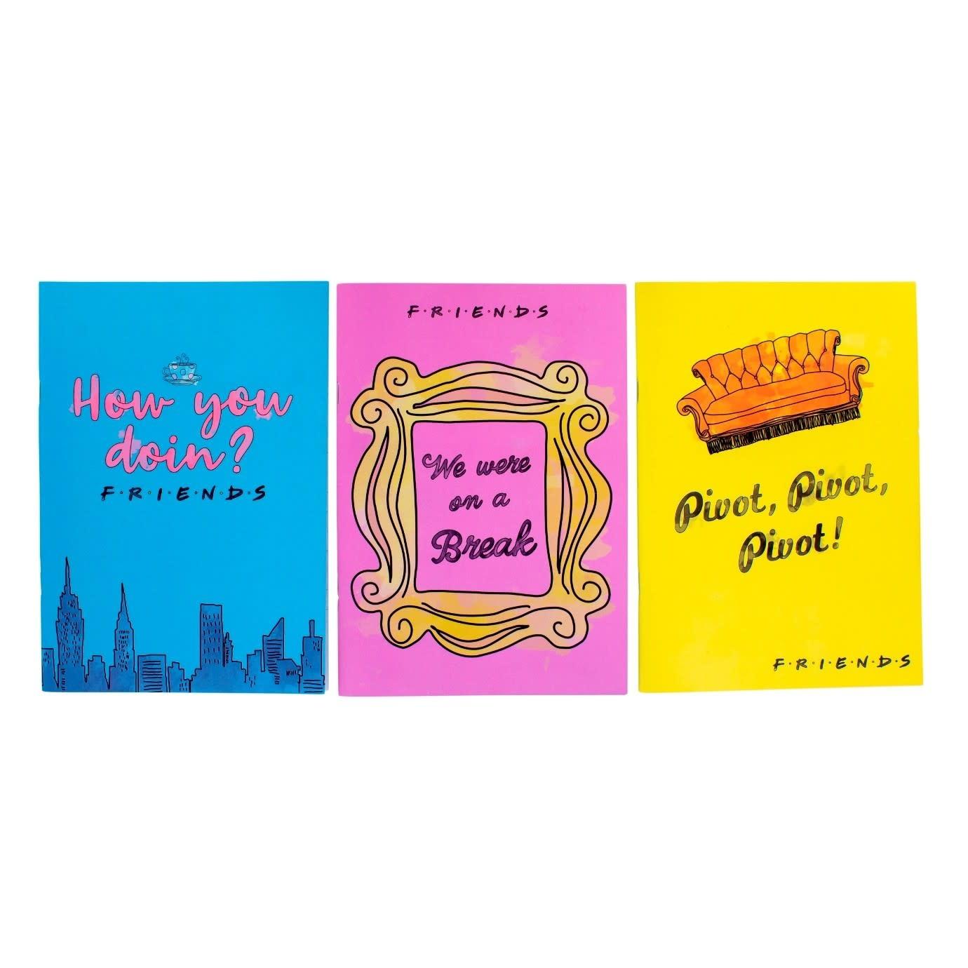 Paladone Friends: Set of 3 Notebooks