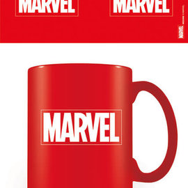 Hole In The Wall Marvel Logo Coloured Mok