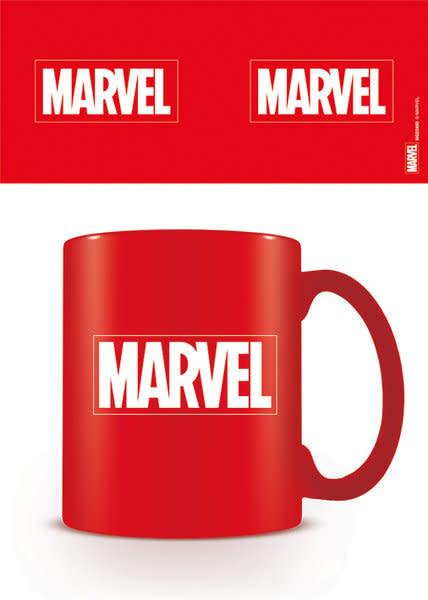 Hole In The Wall Marvel Logo Coloured Mok