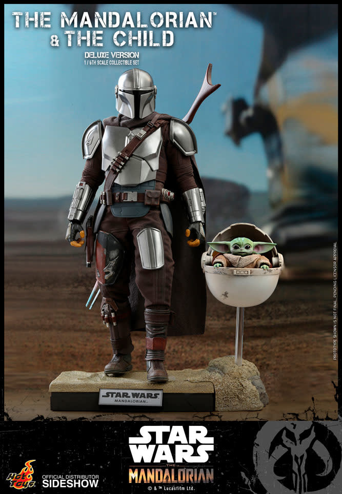 Hot toys Star Wars: Deluxe The Mandalorian and The Child 1:6 Scale Figure Set