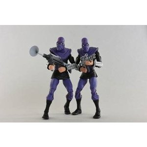 NECA Teenage Mutant Ninja Turtles : Foot Soldier Army Builder 7 inch Action Figure 2-Pack