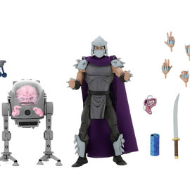 NECA Teenage Mutant Ninja Turtles : Shredder vs Krang in Bubble Walker 7 inch Action Figure 2-Pack