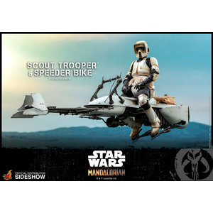 Hot toys Star Wars: The Mandalorian - Scout Trooper and Speeder Bike