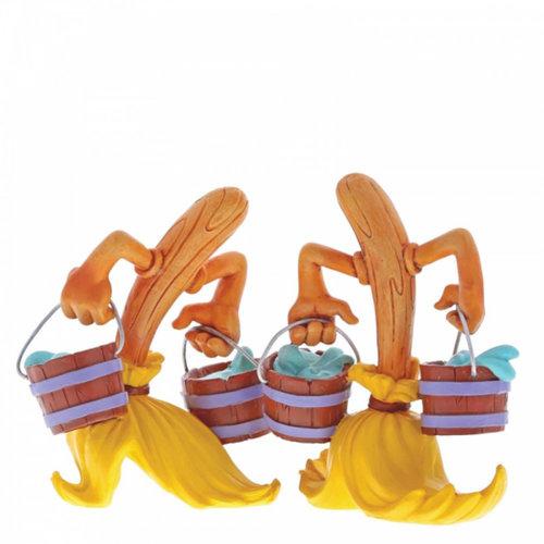 enesco Disney Miss Mindy Fantasia Broom Figurines