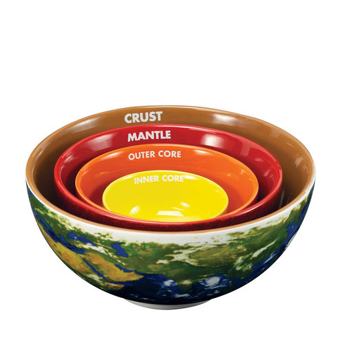 Crowded Coop Earth Cross Section Nesting Bowls
