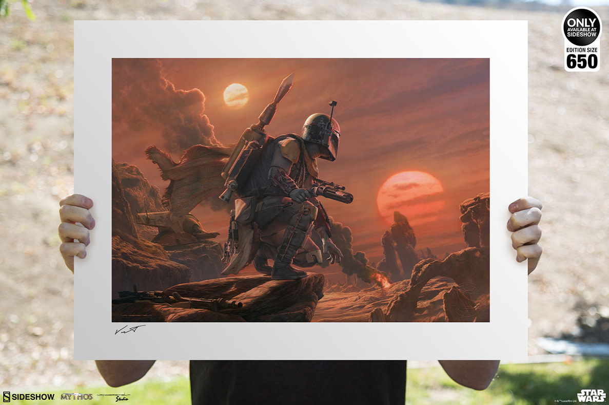 Sideshow Toys Star Wars: Mythos - Boba Fett: Dead or Alive Unframed Art Print