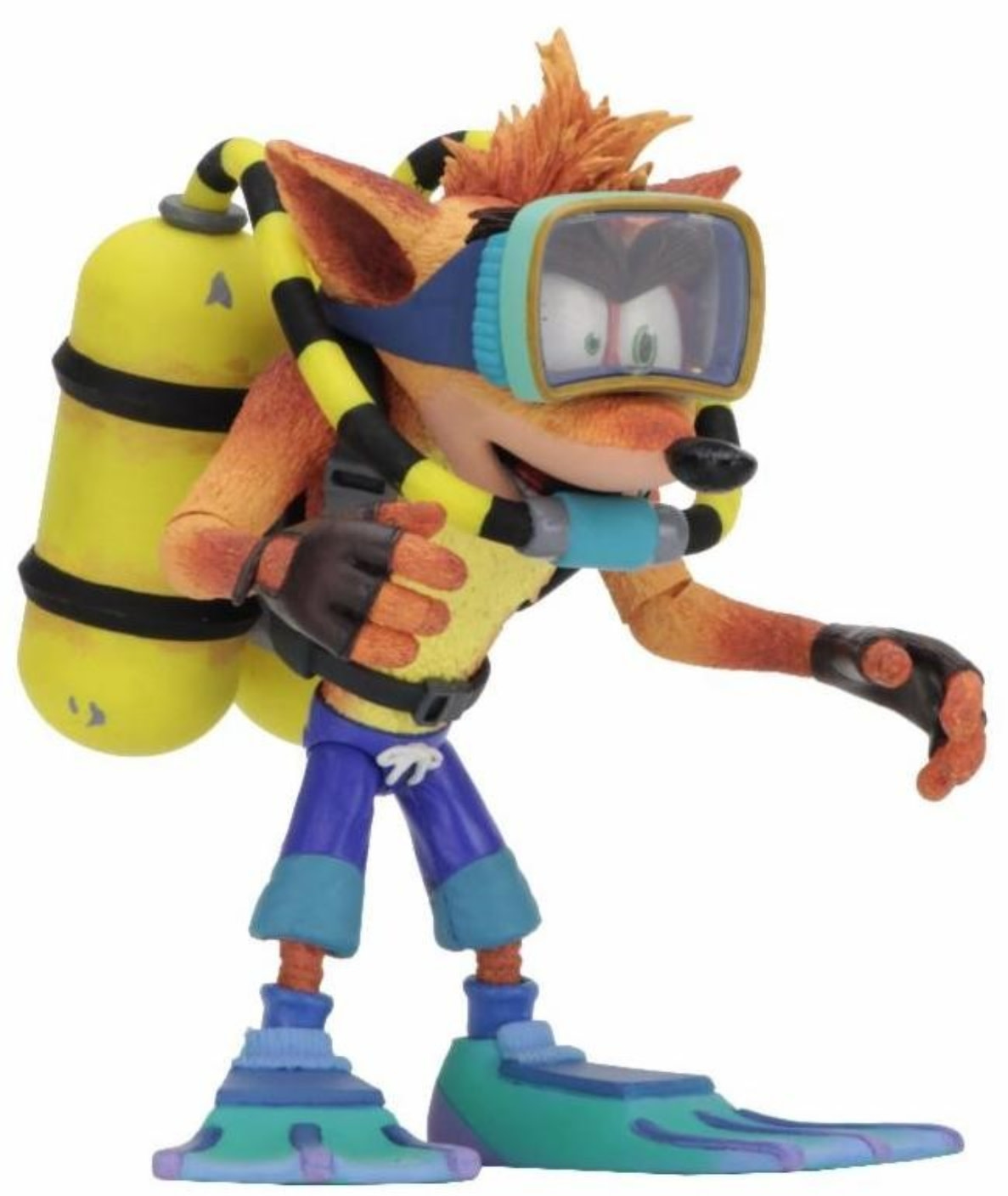 NECA Crash Bandicoot: Deluxe Crash Bandicoot with Scuba Gear 7 inch