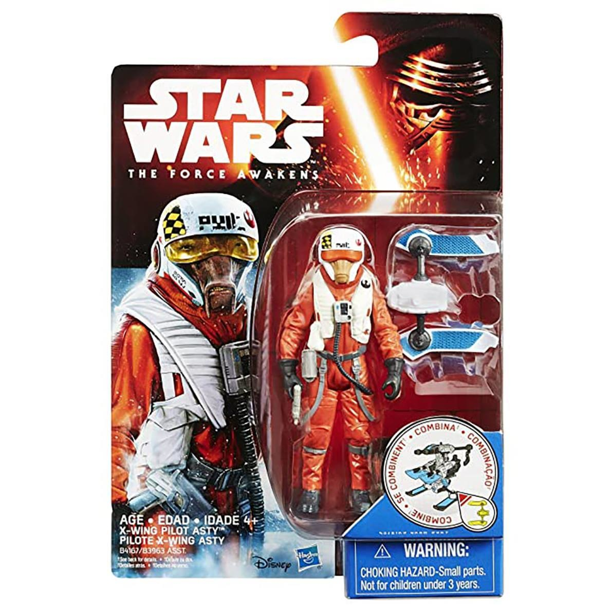 HASBRO Star Wars Episode 7 Snow en Desert X-wing pilot Asty Figuur