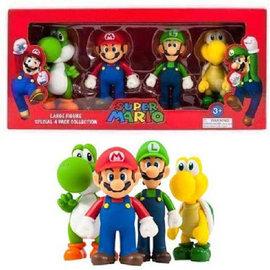 Goldie Marketing. Super Mario Large Figure 4-Pack Collection Mario, Luigi, Yoshi & Koopa. 12cm