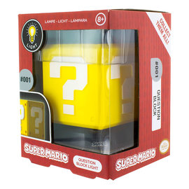 Paladone Super Mario: Question Block Icon Light