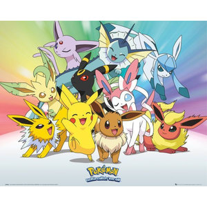 Hole In The Wall Pokemon Eevee - Mini Poster
