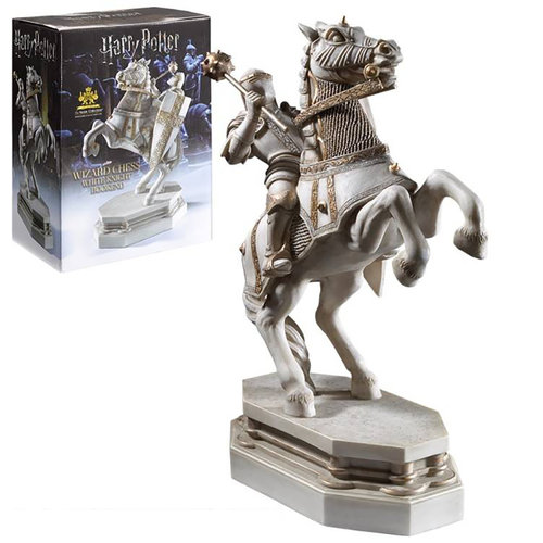 The Noble Collection Harry Potter: Wizard Chess Knight Bookend - White
