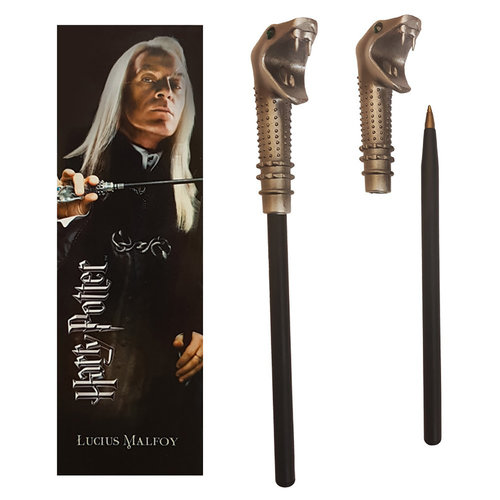The Noble Collection Harry Potter: Lucius Malfoy Wand Pen and Bookmark