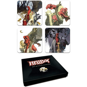 darkhorse Dark Horse Deluxe Hellboy Coaster Set, Multicolor