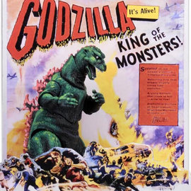 NECA Godzilla – 12″ Head to Tail Action Figure – 1956 Movie Poster Godzilla