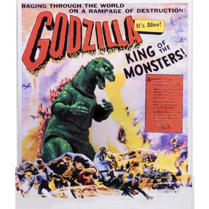 NECA Godzilla – 12″ Head to Tail Action Figure – 1956 Movie Poster Godzilla