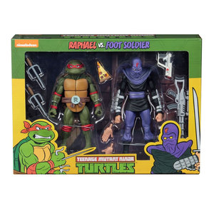 NECA TMNT Action Figure 2-Pack Raphael vs Foot Soldier 18cm