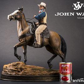 Infinite Statue John Wayne on horse Old&rare 1/6 resin statue