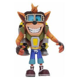 NECA Crash Bandicoot: Deluxe Crash with Jetpack 7 inch Action Figure