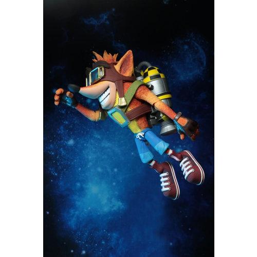 NECA Crash Bandicoot: Deluxe Crash with Jetpack 7 inch Action Figure