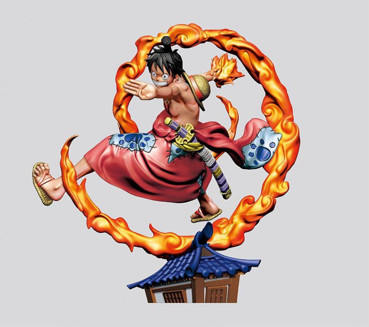 Megahouse One Piece Log Box Trading Figure - Rebirth Wanokuni Vol. 1 Assortment (4)