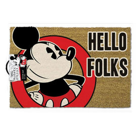 Hole In The Wall Mickey Mouse Hello Folks Doormat