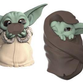 HASBRO Star Wars The Mandalorian - Baby Yoda (2 Pack - The Child Soup & Blanket 5,5 CM)