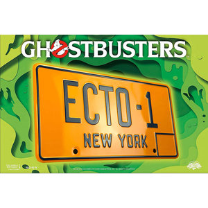 doctor collector Ghostbusters - ECTO-1 Licence Plate Replica