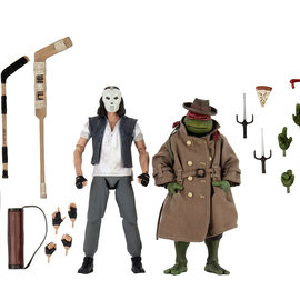 NECA TMNT: 1990 Movie - Casey Jones and Raphael in Disguise 7 inch Action Figure 2-Pack