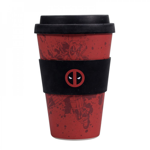 Half Moon  Bay Marvel: Deadpool Bamboo Travel Mug