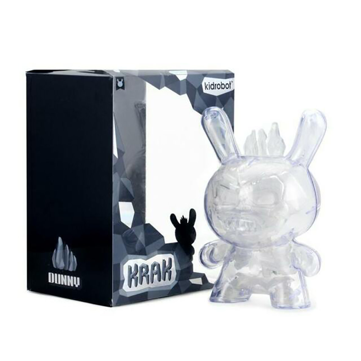 Kidrobot Dunny: Crystal 8 inch Krak Dunny by Scott Tolleson