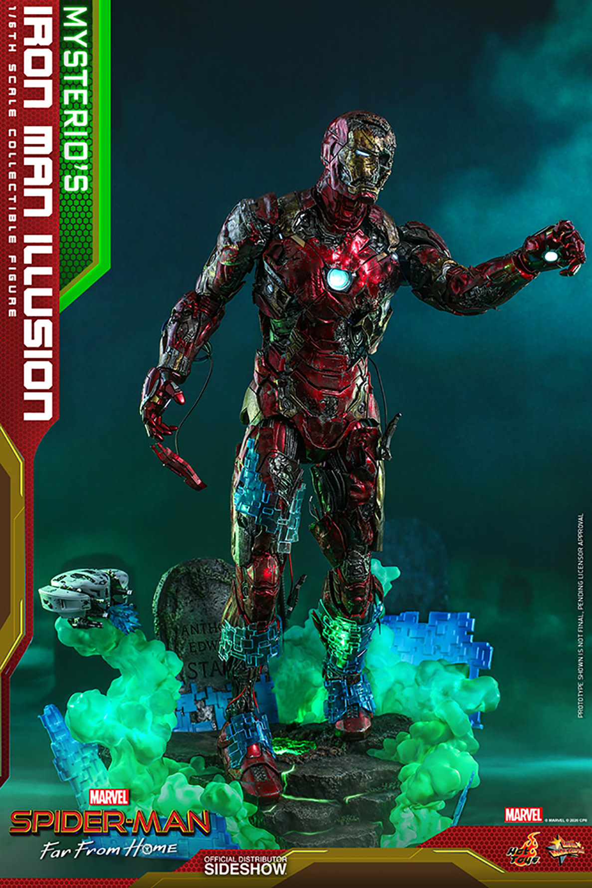 Hot toys Marvel: Spider-Man Far from Home - Mysterio's Iron Man Illusion 1:6 Scale Figure