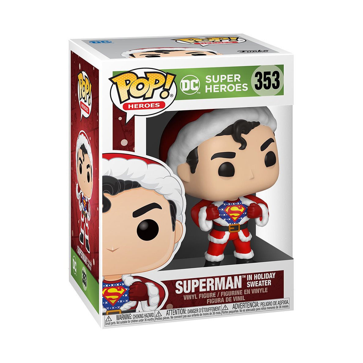 FUNKO Pop! DC: Holiday - Superman with Sweater