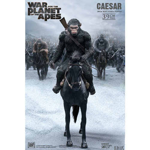 Star Ace War for the Planet of the Apes: Caesar with Rifle on Horse PVC Statue
