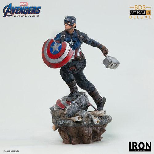 Iron Studios Marvel: Avengers Endgame - Deluxe Captain America 1:10 Scale Statue