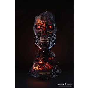 PURE ARTS Terminator 2: T-800 Battle Damaged 1:1 Scale Art Mask Statue