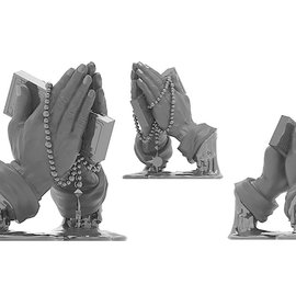 Kidrobot Let Us Prey 10 inch Vinyl Art Figure by Frank Kozik - Black Matte