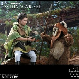Hot toys Star Wars: Return of the Jedi - Princess Leia and Wicket 1:6 Scale Set